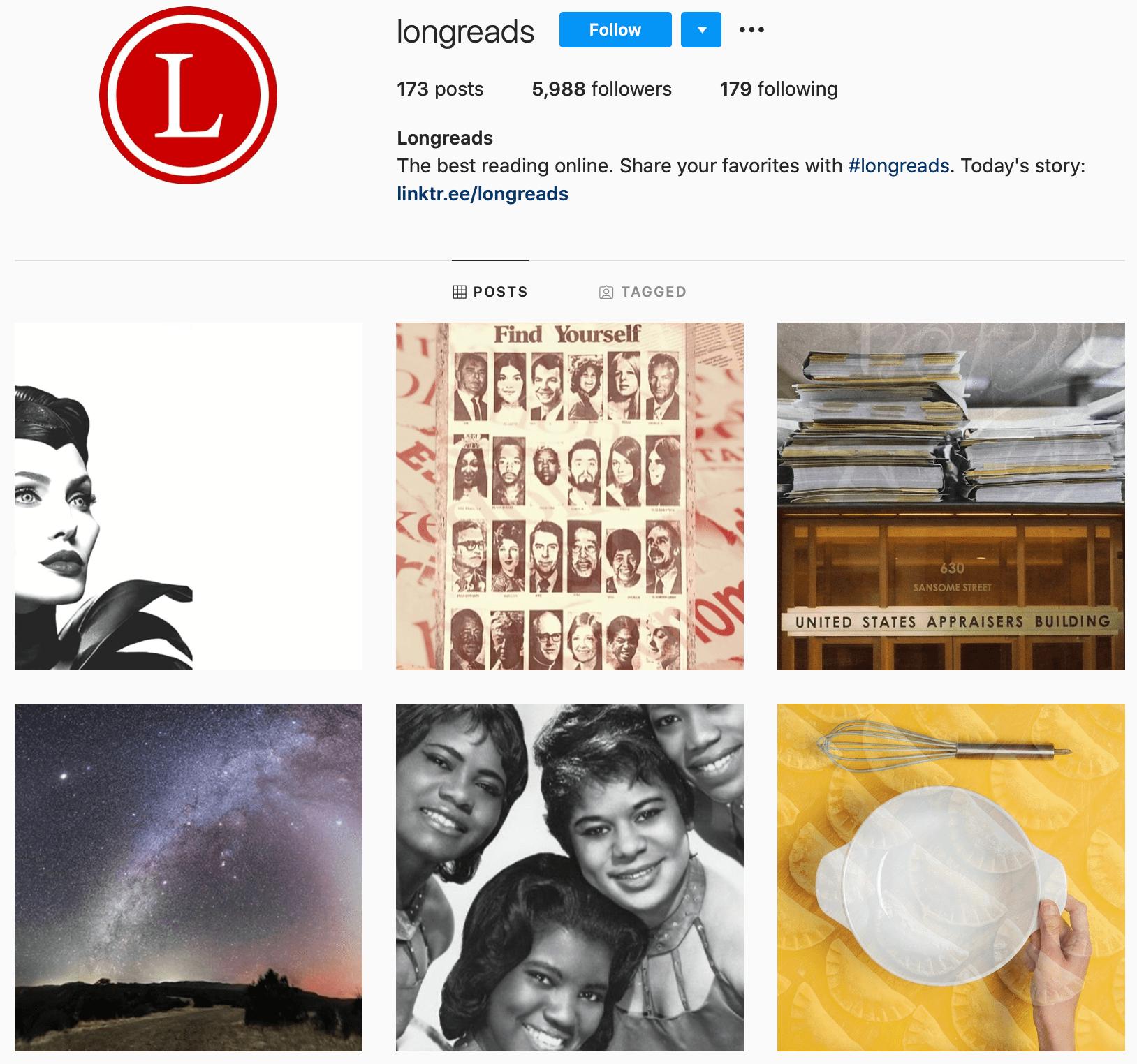 longreads instagram profile photo